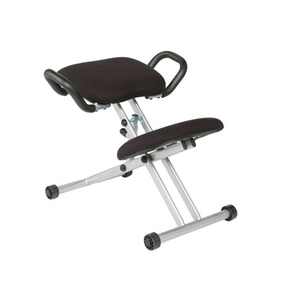 Eurostyle Low-Back Height Adjustable Knee Computer Office Chair with Support