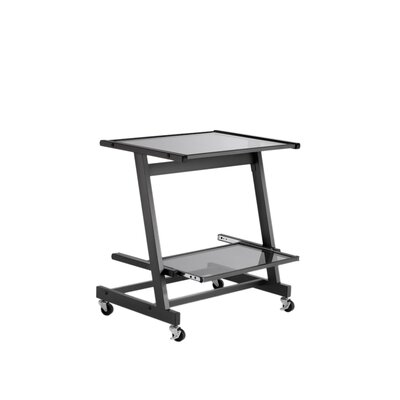 Eurostyle Zeus Computer Cart without Keyboard Tray in Black