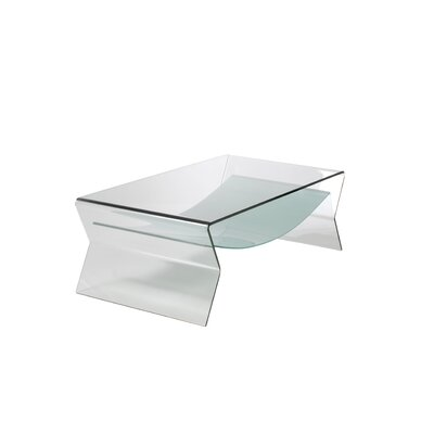 Eurostyle Giacomo Glass Coffee Table in Clear