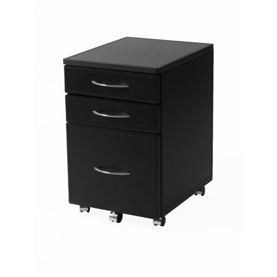 Eurostyle 3-Drawer Laurence High Mobile File Cabinet