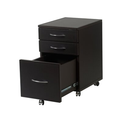 Eurostyle Ledah Leather High File Cabinet