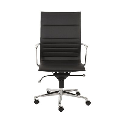 Eurostyle Kyler High-Back Leatherette Office Chair with Arms