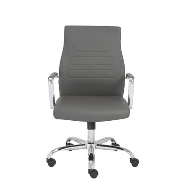Fenella High-Back Leatherette Office Chair with Arms