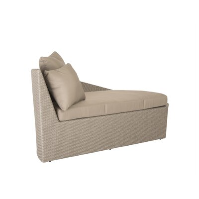 Eurostyle Linda Chaise Lounge and Ottoman with Cushion