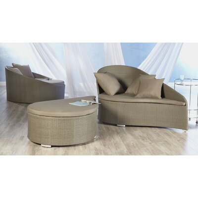 Eurostyle Lavinia Lounge Chair and Ottoman with Cushion