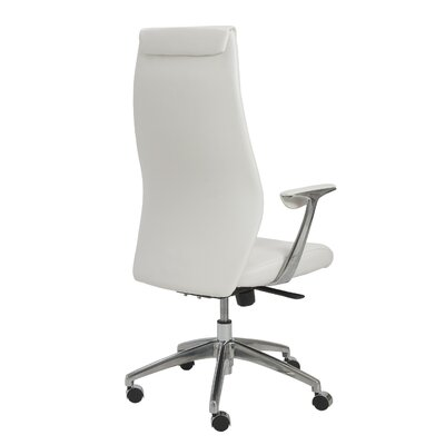 Eurostyle Crosby High-Back Leatherette Office Chair with Arms