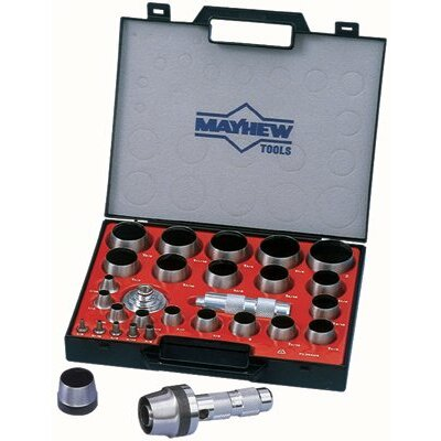 Mayhew Tools 27 Pc Hollow Punch Tool Kits - 31pc. metric hollow punch tool kit
