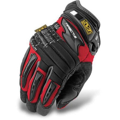 Mechanix Wear Red M-Pact® 2 Mechanics Gloves With Double Layer Synthetic Leather Palm And Spandex Wrist Panel Insert