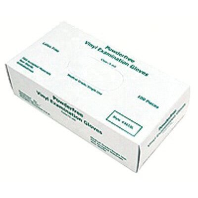Memphis Glove Disposable Vinyl/Latex Gloves - 5-mil medical grade disposable glove powder (100 per box)