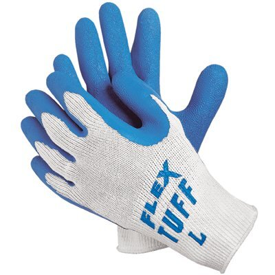 Memphis Glove Premium Latex Coated String Gloves - flex-tuff 10 gage bluelatex ctd palm