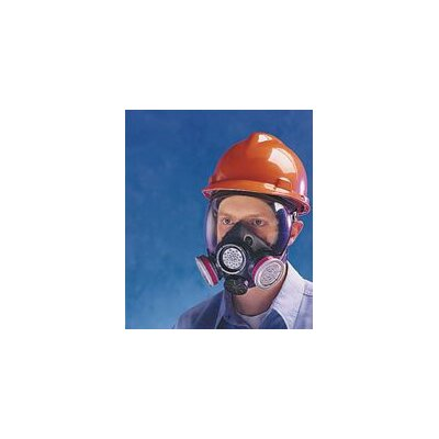 MSA Black Hycar Advantage® 1000 Low-Maintenance Full Mask Face Piece With Nose Cup And Speaking Diaphragm