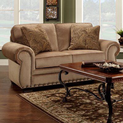 Franklin Ashworth Velvet Loveseat