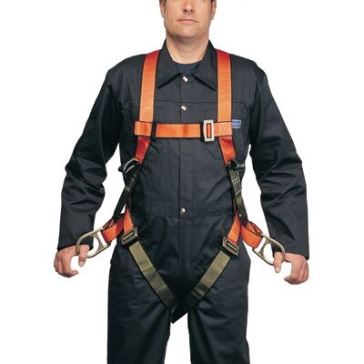 North Safety Nylon-Sized Full Body Harnesses - medium basic linesman harness w/back d ri