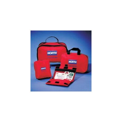 "North Safety Redi-Care 10 1/2"" X 7"" X 6"" CPR Barrier First Aid Kit"
