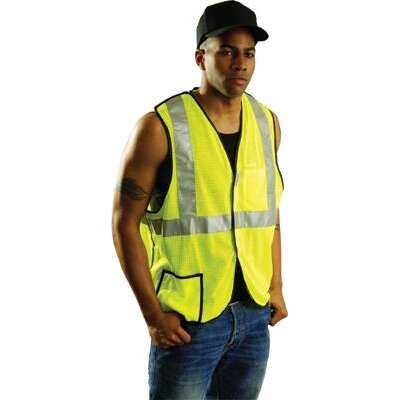 OccuNomix Large Yellow Class 2 OccuLux® Cool Mesh Break-Away Vest
