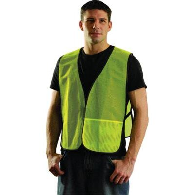 OccuNomix Large Yellow Mesh Vest With No Reflective Tape
