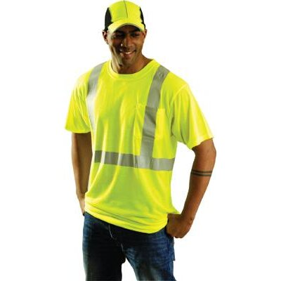 "OccuNomix OccuLux® Yellow Class 2 High Visibility Wicking Polyester T-Shirts With 2"" 3M™ Scotchlite™ Reflective Tape"
