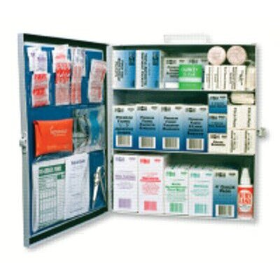 Pac-Kit 3-Shelf Industrial First Aid Stations - standard industrial 3 shelf first aid station