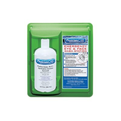 Pac-Kit Emergency Flush Stations - 32-oz. eye & skin flushstation w/one 32-oz