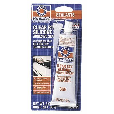 Permatex Clear RTV Silicone Adhesive Sealants - #66 clear silicone adhesive 3 oz tube