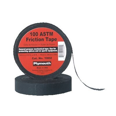 "Plymouth Bishop Friction Tapes - 2""x60' 100 astm black friction tape"