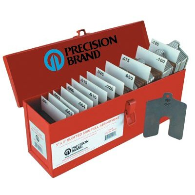 Precision Brand Slotted Shim Assortment Kits - size c 4x4 assorted slotted shims