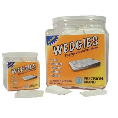 Precision Brand Wedgies™ Installation Shims - the wedgie - white flexible shim - 200 pieces