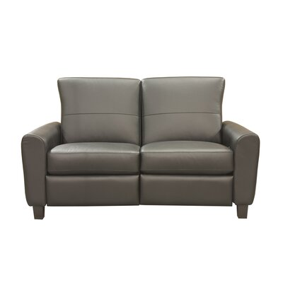 Coja York Leather Reclining Loveseat