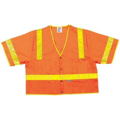 River City Luminator Class Iii Safety Vests Lum. Class Iii Poly Fluorescent Safety Vest Orng: 611-Cl3Sovx2 - lum. class iii poly fluorescent safety vest orng