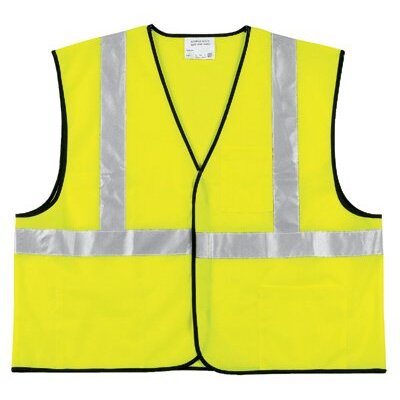 River City Class Ii Economy Safety Vests Class Ii Solid Poly Fluorescent Lime Safety Vest: 611-Vcl2Sll - class ii solid poly fluorescent lime safety vest