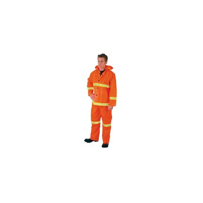 River City Fluorescent Orange Luminator 0.35 mm PVC And Polyester Rain Suit