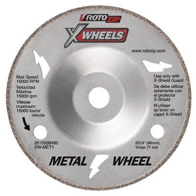 Rotozip Rotozip - X-Wheels Metal Cutting X-Wheel For Rotozip Cutout Tools: 114-Xw-Met1 - metal cutting x-wheel for rotozip cutout tools