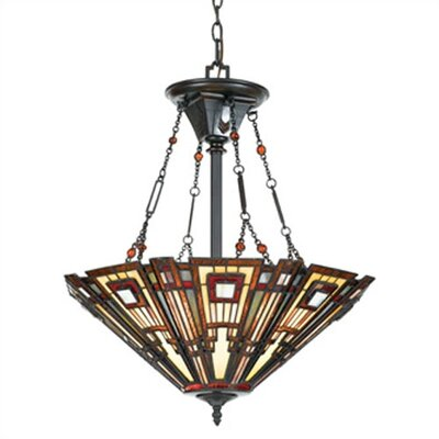 Classic Craftsman 3 Light Inverted Pendant