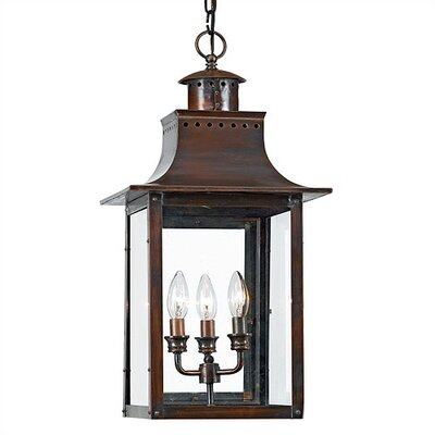 Quoizel Chalmers 3 Light Outdoor Hanging Lantern