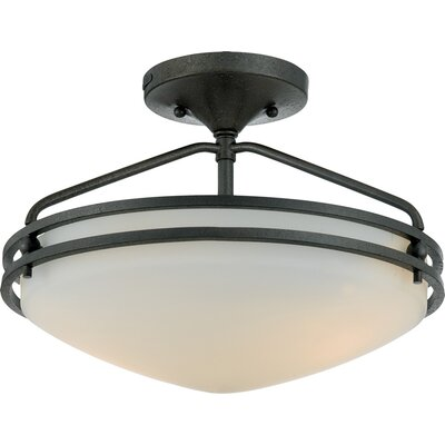 Quoizel Ozark Medium Semi Flush Mount in Iron Gate