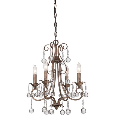 Capulin 4 Light Candle Chandelier