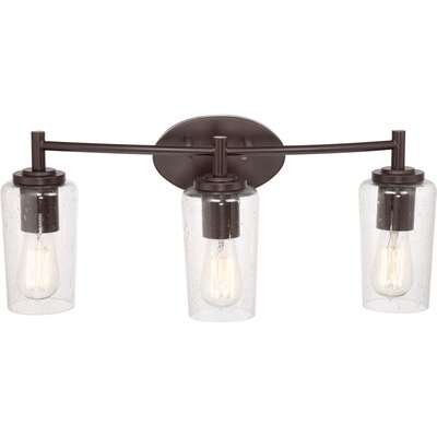 quoizel edison 3 light bath vanity light reviews wayfair. Black Bedroom Furniture Sets. Home Design Ideas