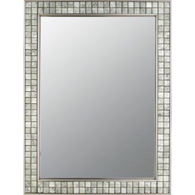 Quoizel Vetreo Clouds Mirror in Brushed Nickel