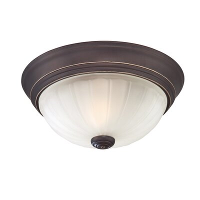 Quoizel Melon One Light Flush Mount in Palladian Bronze