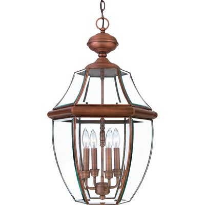 Quoizel Newbury 4 Light Outdoor Hanging Lantern