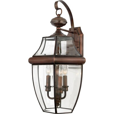 Quoizel Newbury 3 Light Outdoor  Wall Lantern