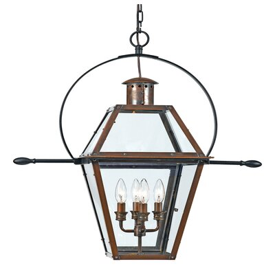 Quoizel Rue De Royal 4 Light Large Outdoor Hanging Lantern