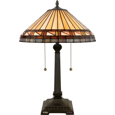 "Quoizel Estacado Tiffany 23"" H Table Lamp with Empire Shade"