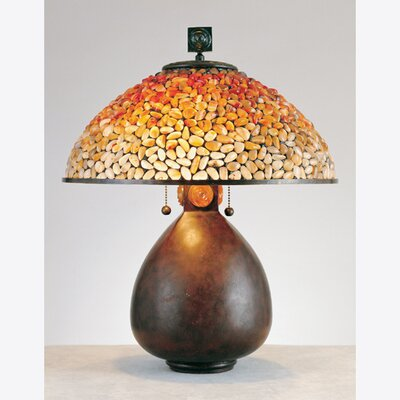 Quoizel Pomez Tiffany  Table Lamp in Cinnamon