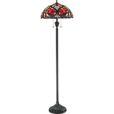 Quoizel Larissa Tiffany Floor Lamp in Vintage Bronze