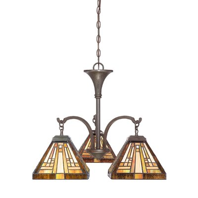 Stephen Three Light Chandelier in Vintage Bronze
