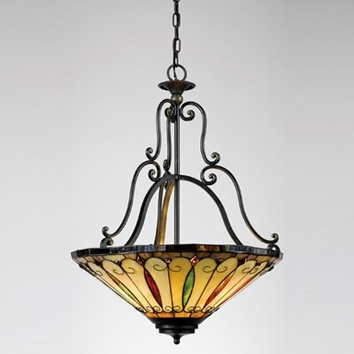 Felice 3 Light Tiffany Inverted Pendant