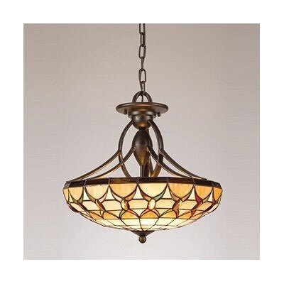 Quoizel Veranda Tiffany Semi Flush Mount