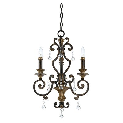 Quoizel Marquette 3 Up Light Chandelier