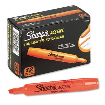 Sharpie® Accent Tank Style Highlighter, Chisel Tip,12/ Pack